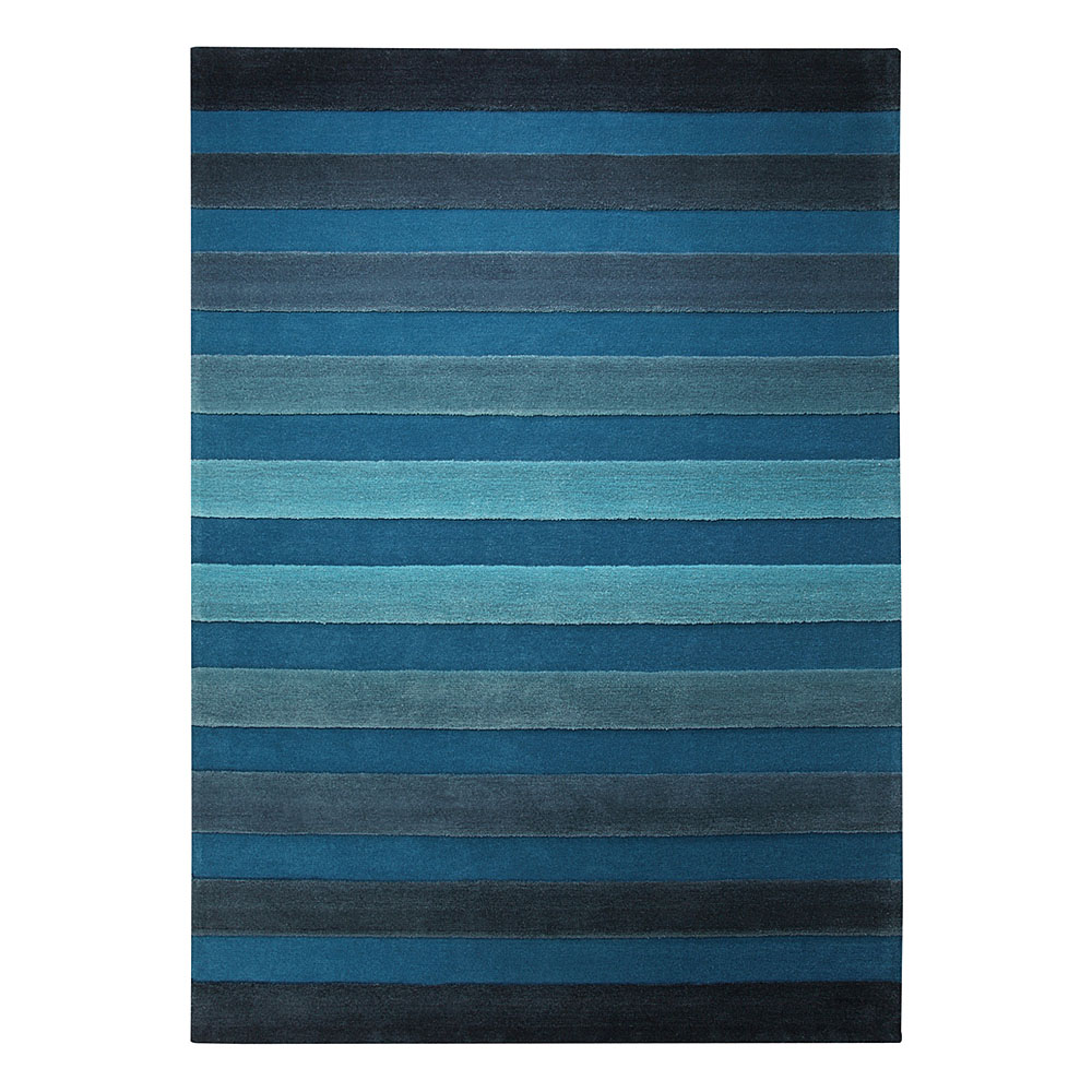 tapis cross walk bleu esprit home 70x140. Black Bedroom Furniture Sets. Home Design Ideas