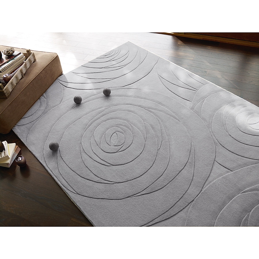 Tapis beige carving art esprit home moderne 70x140 for Tapis rond beige pas cher