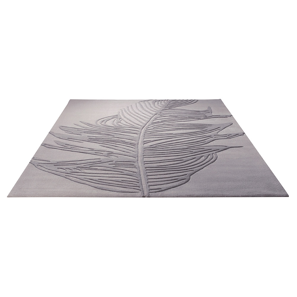 tapis feather gris esprit home