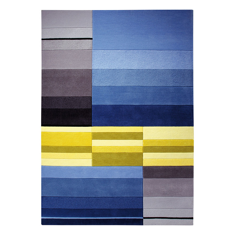 tapis split bleu et jaune esprit home 70x140. Black Bedroom Furniture Sets. Home Design Ideas