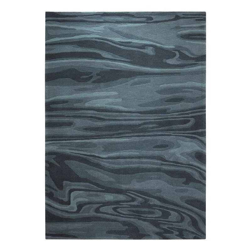 tapis esprit deep water moderne bleu 200x200. Black Bedroom Furniture Sets. Home Design Ideas