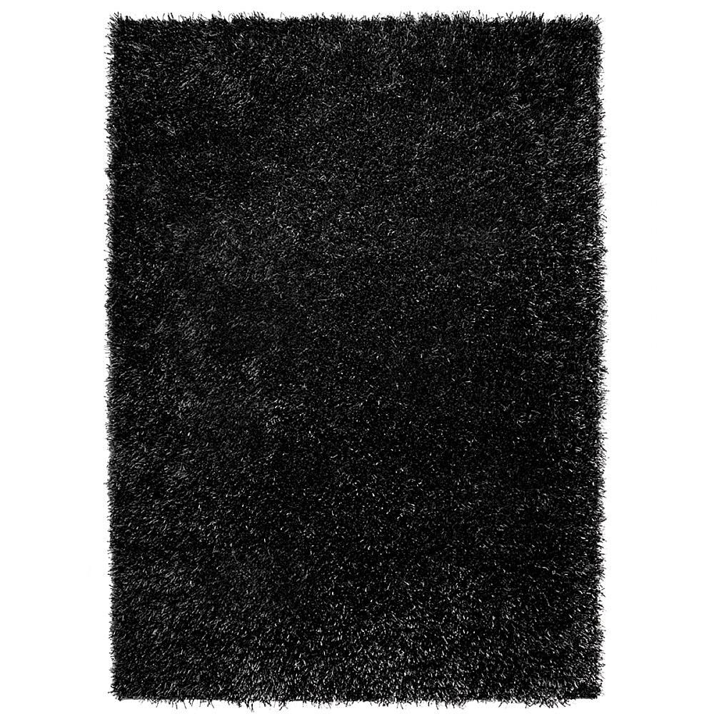 tapis cool glamour shaggy noir esprit home 140x200. Black Bedroom Furniture Sets. Home Design Ideas