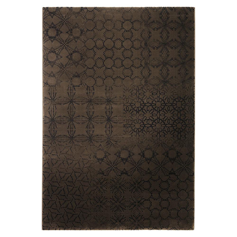 tapis hamptons chocolat moderne esprit home 140x200. Black Bedroom Furniture Sets. Home Design Ideas