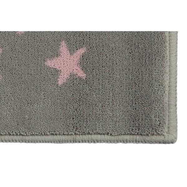 tapis enfant gris et rose lorena canals estrellitas 140x200. Black Bedroom Furniture Sets. Home Design Ideas