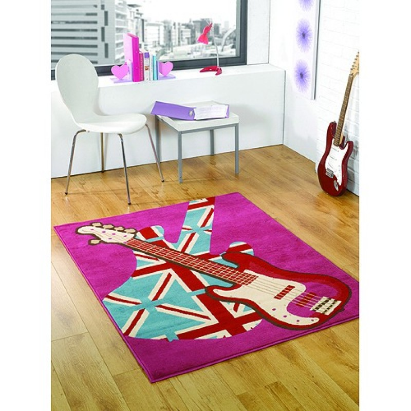 tapis chambre ado girls rock flair rugs 120x160. Black Bedroom Furniture Sets. Home Design Ideas
