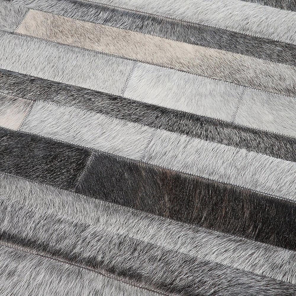tapis en patchwork de cuir gris jacob home spirit 170x230. Black Bedroom Furniture Sets. Home Design Ideas