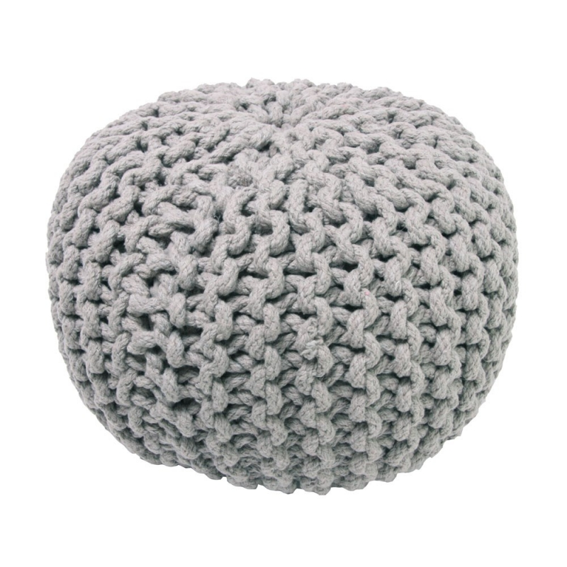 pouf enfant en coton gris lili nattiot 30x30. Black Bedroom Furniture Sets. Home Design Ideas
