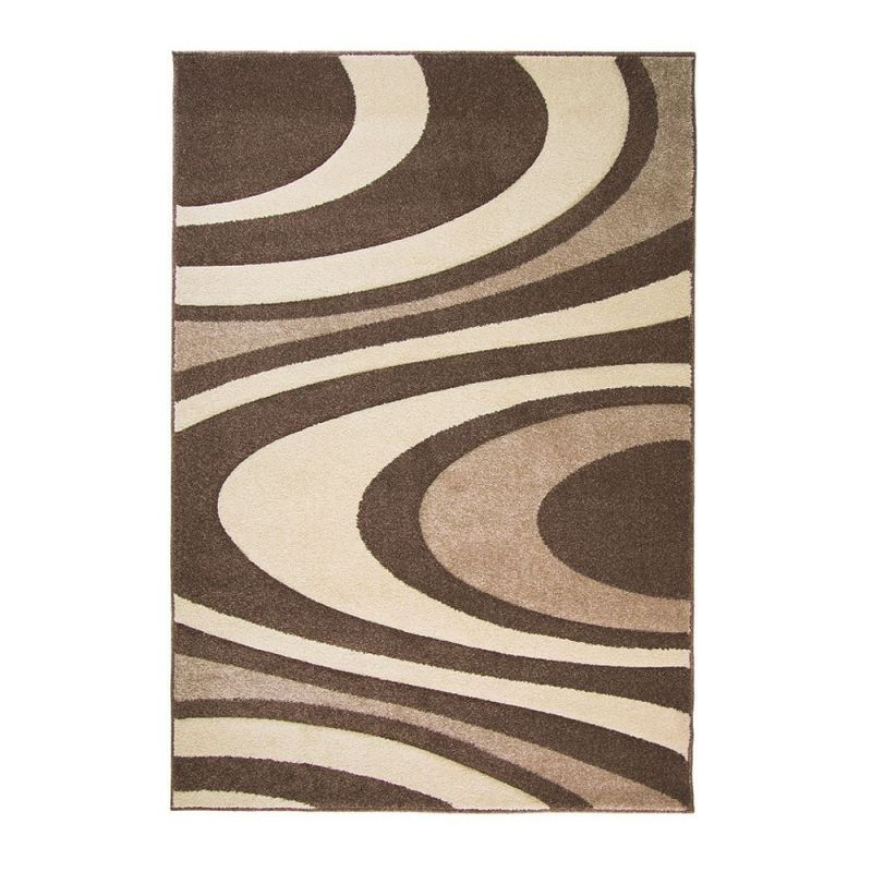 Tapis moderne marron et beige honesty flair rugs 120x170
