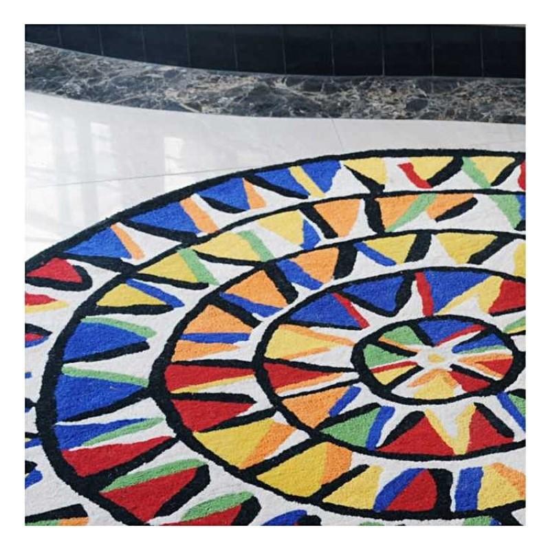tapis rond multicolore faire mieux pour votre maison. Black Bedroom Furniture Sets. Home Design Ideas