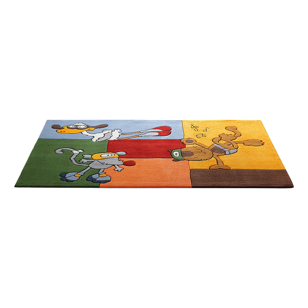 tapis enfant multicolore bandidoleros fun sigikid 120x180. Black Bedroom Furniture Sets. Home Design Ideas