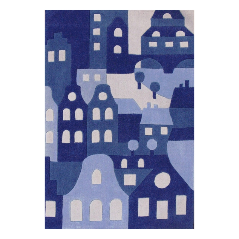tapis bleu enfant amsterdam art for kids 110x160. Black Bedroom Furniture Sets. Home Design Ideas