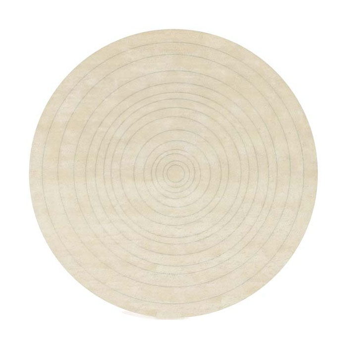 tapis rond eden en laine tuft main beige angelo 220x220. Black Bedroom Furniture Sets. Home Design Ideas