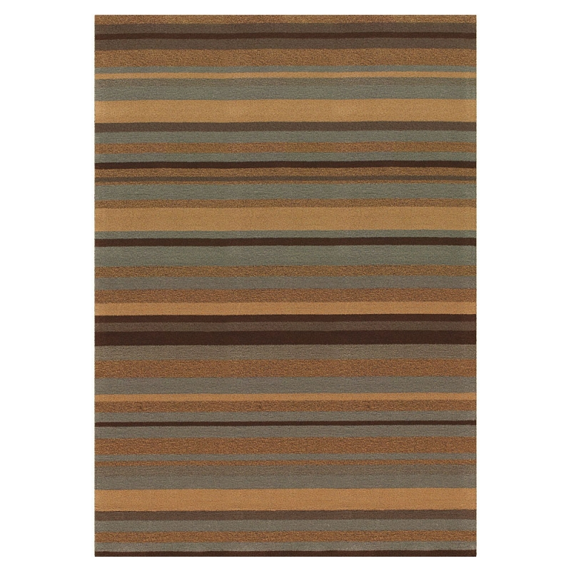 tapis flax marron rayures angelo en laine et lin 300x400. Black Bedroom Furniture Sets. Home Design Ideas
