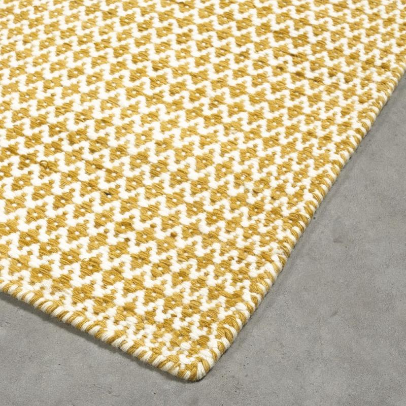 tapis tiss main en laine mic mac jaune angelo 200x300. Black Bedroom Furniture Sets. Home Design Ideas