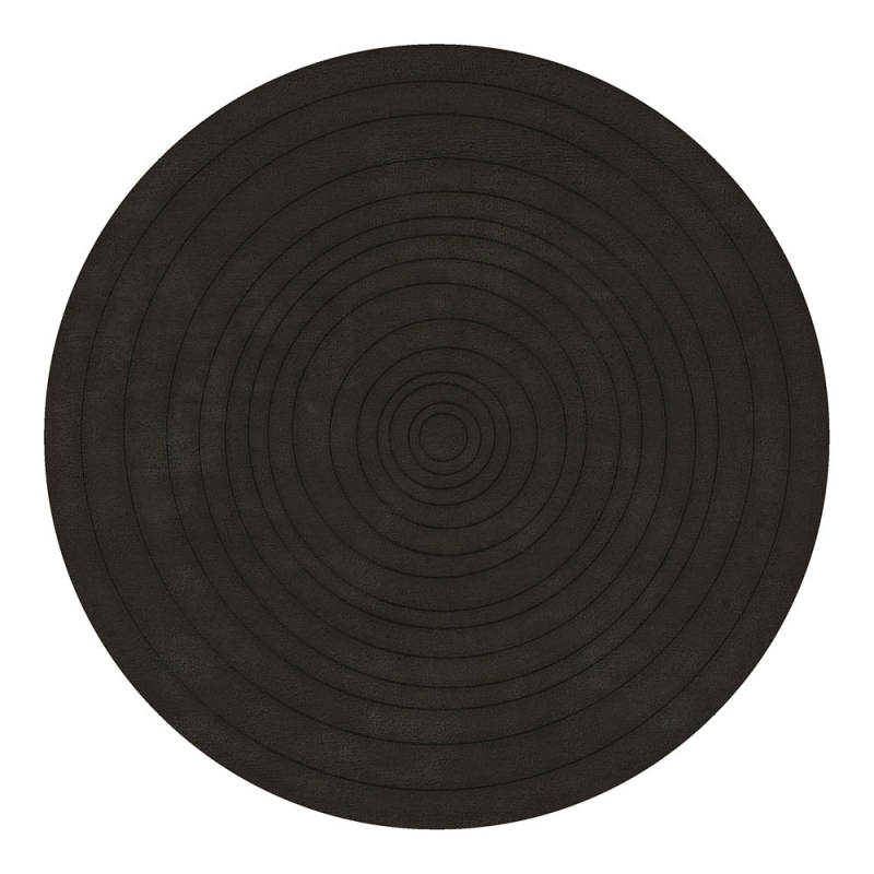 tapis rond eden en laine tuft main anthracite angelo 220x220. Black Bedroom Furniture Sets. Home Design Ideas