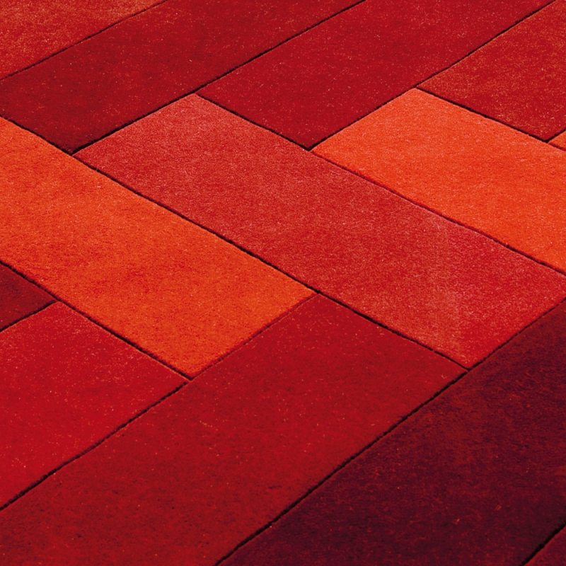 tapis angelo design en laine rouge panama 170x240. Black Bedroom Furniture Sets. Home Design Ideas