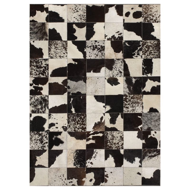 Tapis en cuir starless patchwork vache angelo 140x200 - Tapis cuir patchwork ...