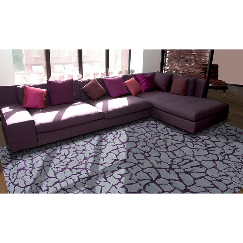 tapis en laine bali violet angelo. Black Bedroom Furniture Sets. Home Design Ideas