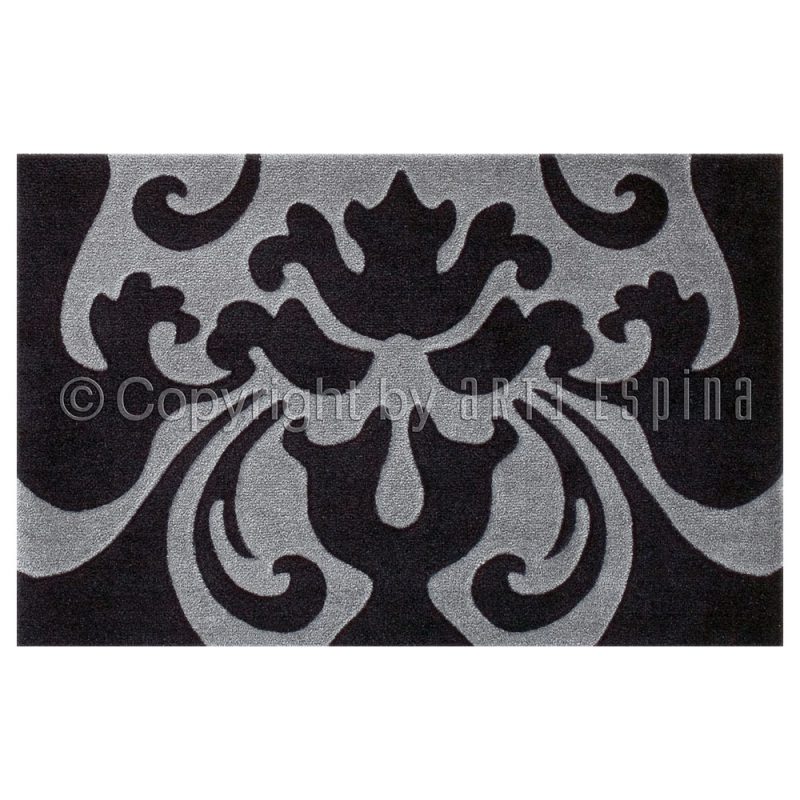 tapis antid rapant style noir et gris arte espina 64x97. Black Bedroom Furniture Sets. Home Design Ideas