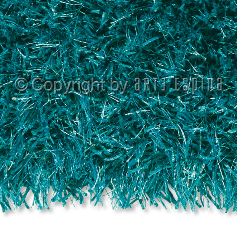 tapis shaggy beat bleu turquoise arte espina 200x200. Black Bedroom Furniture Sets. Home Design Ideas