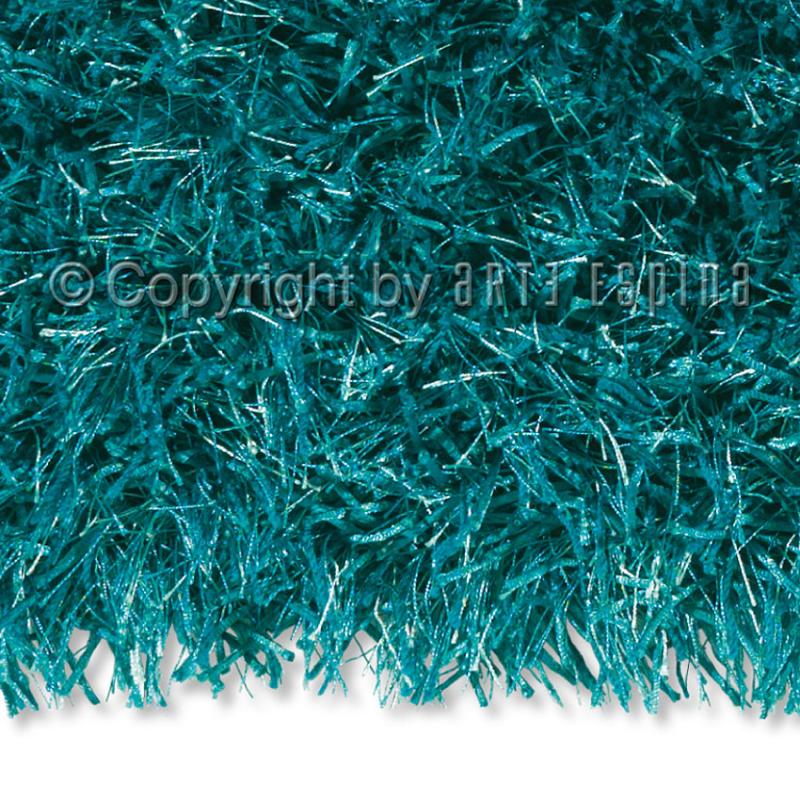 tapis shaggy beat turquoise arte espina tuft main 70x140. Black Bedroom Furniture Sets. Home Design Ideas