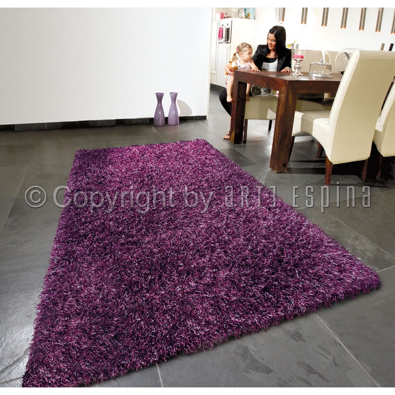 tapis shaggy beat violet arte espina 200x300. Black Bedroom Furniture Sets. Home Design Ideas