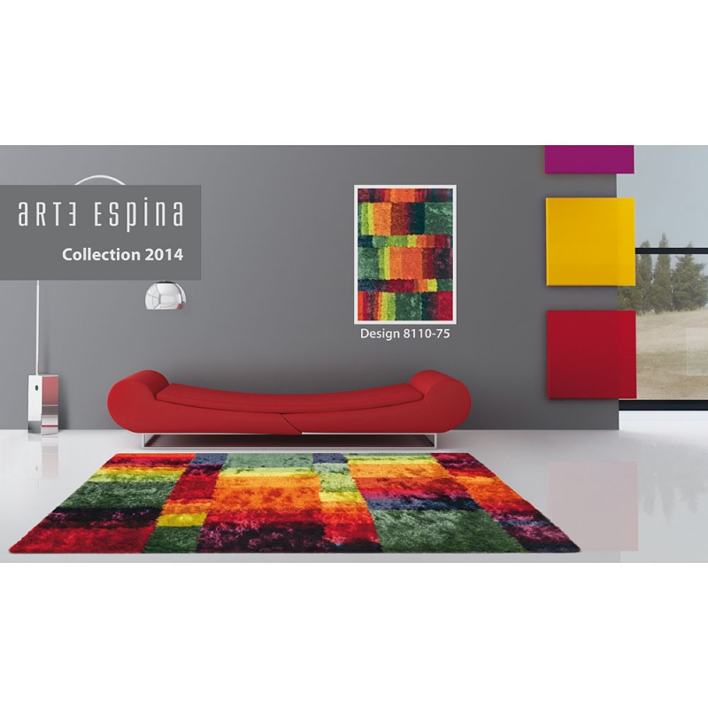 tapis multicolore arte espina poils longs funky 200x300. Black Bedroom Furniture Sets. Home Design Ideas