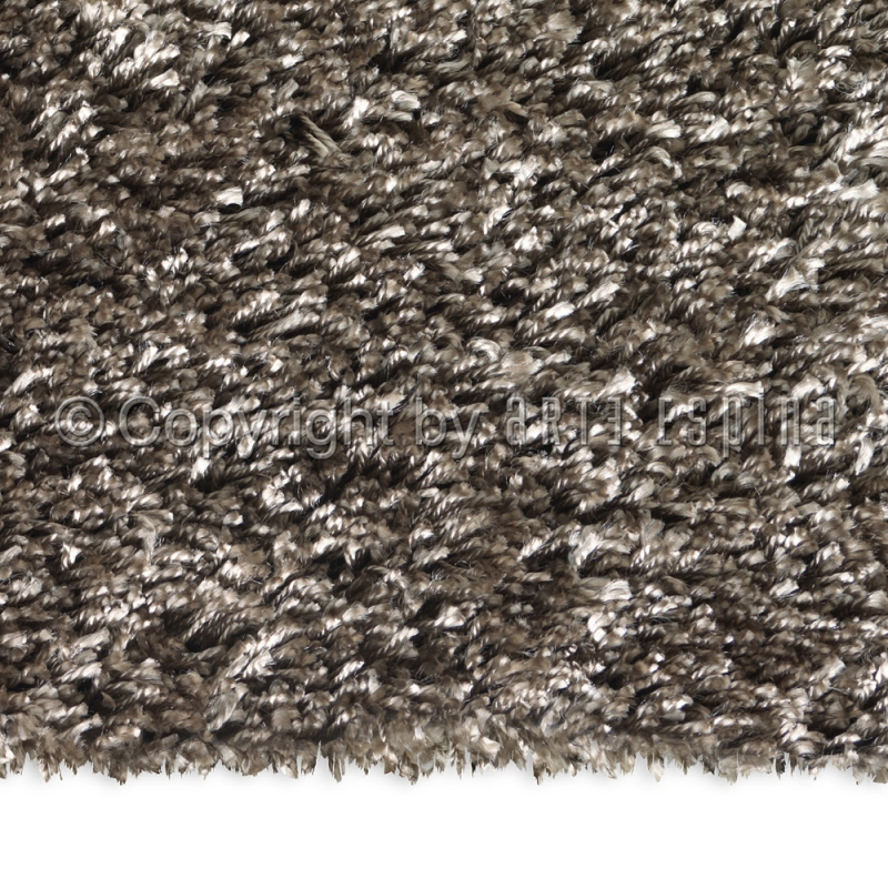 tapis rond shaggy soul taupe arte espina 200x200. Black Bedroom Furniture Sets. Home Design Ideas