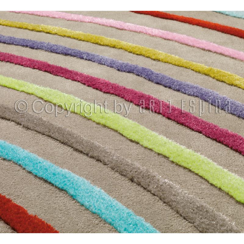tapis blues multicolore arc en ciel arte espina 120x180
