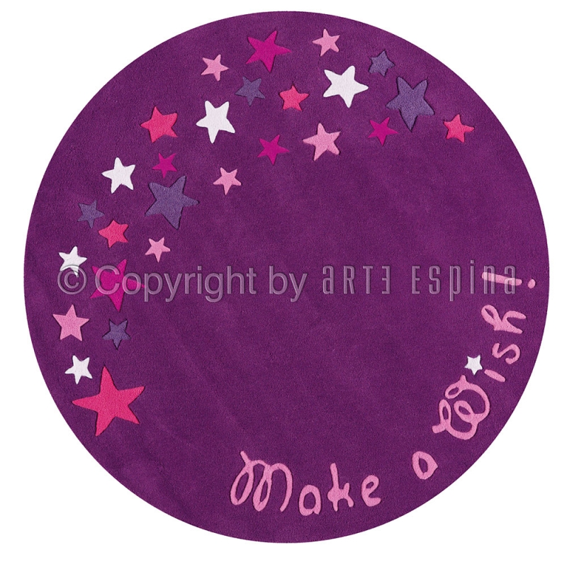 tapis fluorescent violet pour fille glowy arte espina 130x130. Black Bedroom Furniture Sets. Home Design Ideas