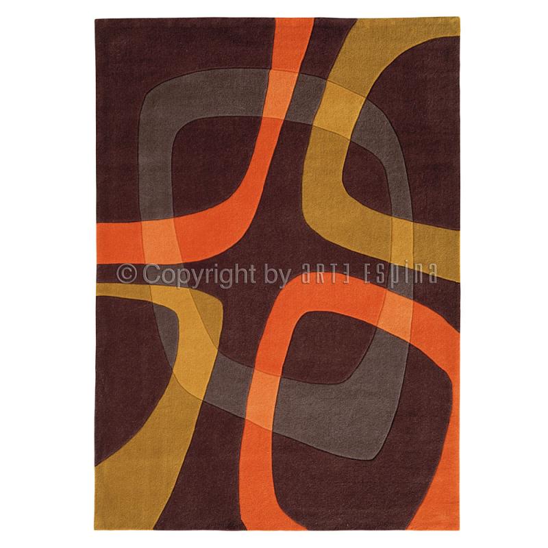 tapis showtime marron et orange arte espina. Black Bedroom Furniture Sets. Home Design Ideas