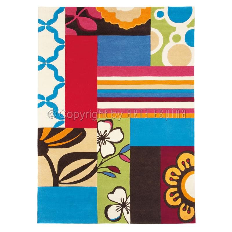 tapis mix match multicolore arte espina. Black Bedroom Furniture Sets. Home Design Ideas