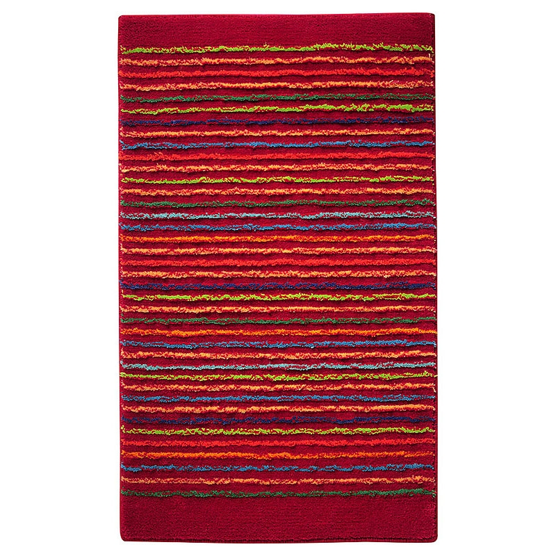 tapis de bain esprit home cool stripes rouge 60x100. Black Bedroom Furniture Sets. Home Design Ideas