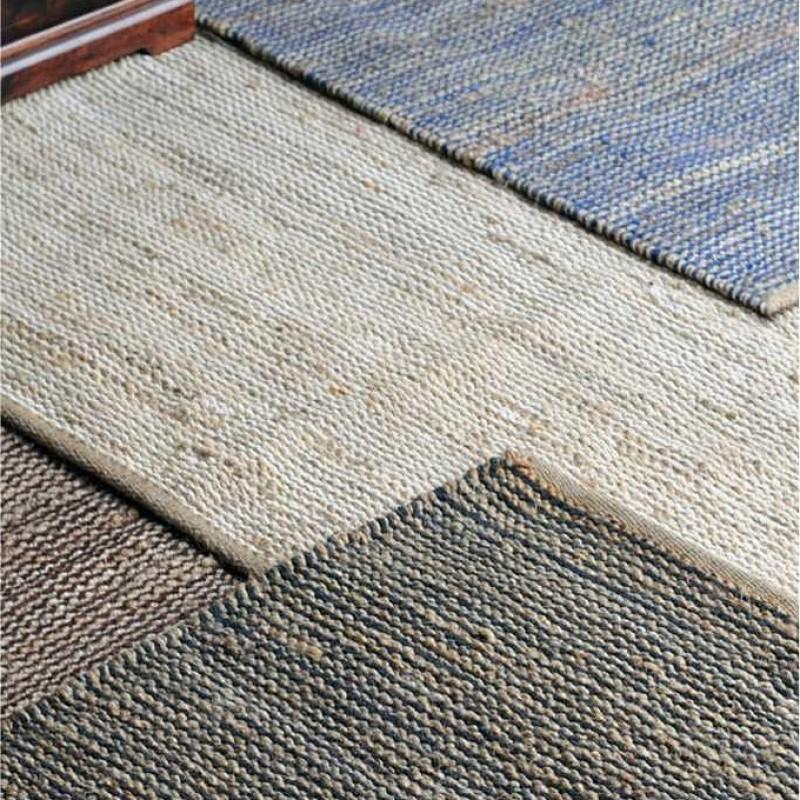 tapis tiss main coastal bleu the rug republic 160x230. Black Bedroom Furniture Sets. Home Design Ideas