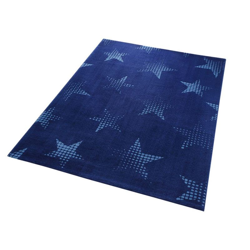 tapis bleu moderne star dust wecon 80x150. Black Bedroom Furniture Sets. Home Design Ideas
