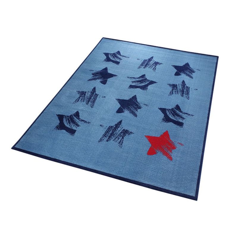 tapis red star wecon moderne blue 133x200. Black Bedroom Furniture Sets. Home Design Ideas