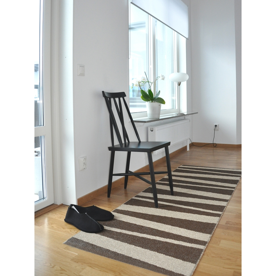tapis de couloir are beige et brun sofie sjostrom design 70x200. Black Bedroom Furniture Sets. Home Design Ideas
