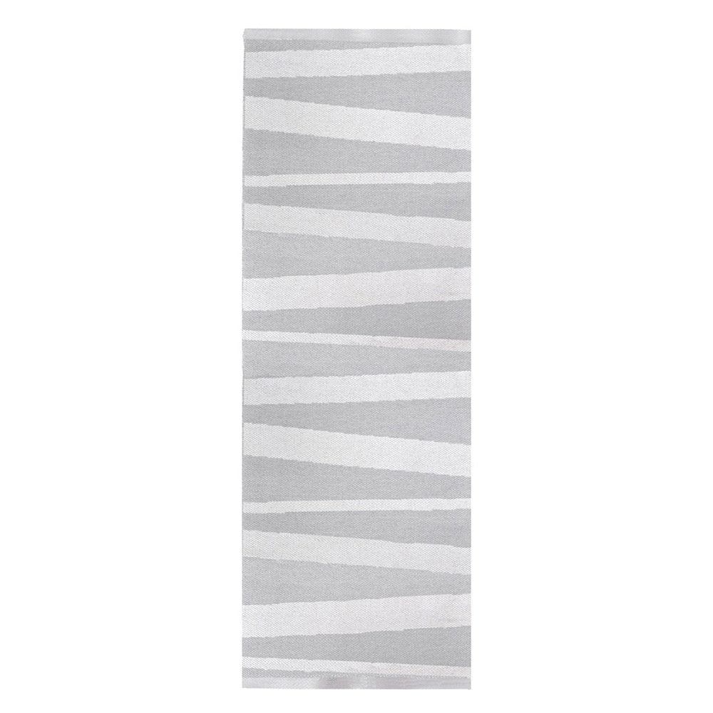 tapis de couloir are ray gris et blanc sofie sjostrom design 70x100. Black Bedroom Furniture Sets. Home Design Ideas