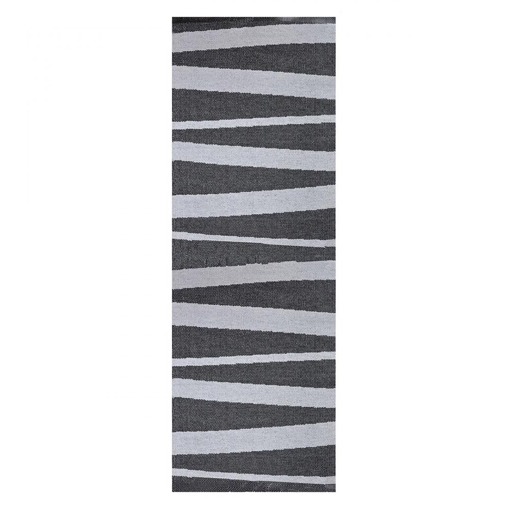 tapis de couloir are gris et noir sofie sjostrom design. Black Bedroom Furniture Sets. Home Design Ideas