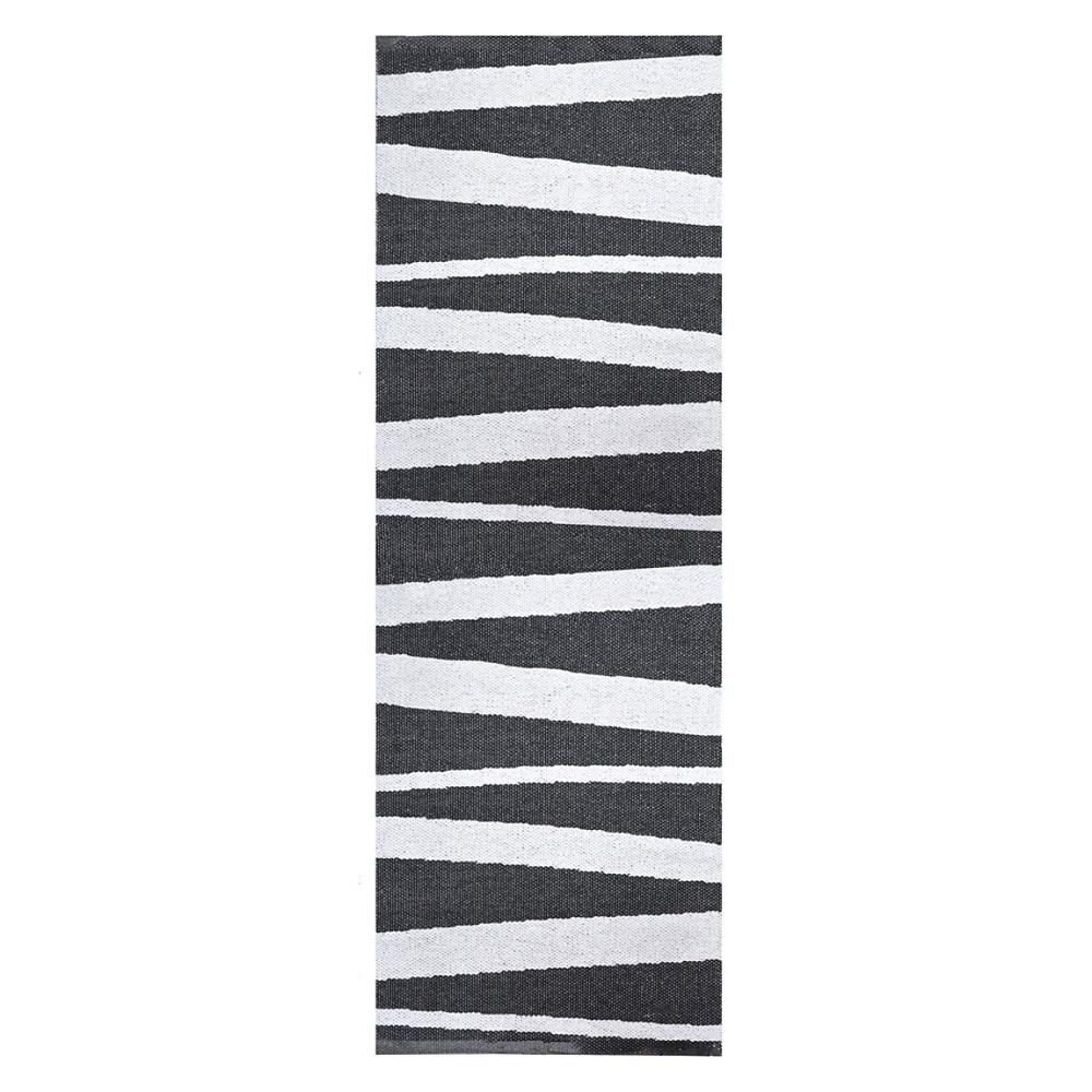 Tapis de couloir are ray noir et blanc sofie sjostrom - Deco couloir noir et blanc ...