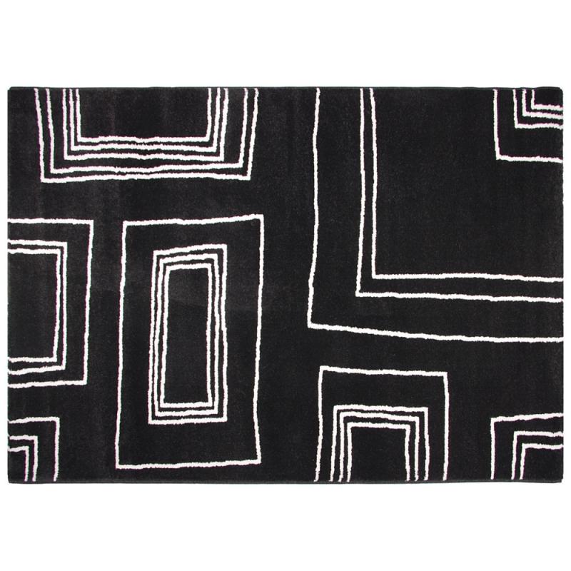 tapis moderne noir et blanc arizona 60x110. Black Bedroom Furniture Sets. Home Design Ideas