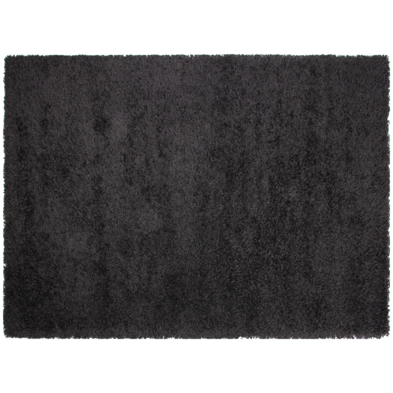 tapis shaggy noir california 160x230. Black Bedroom Furniture Sets. Home Design Ideas