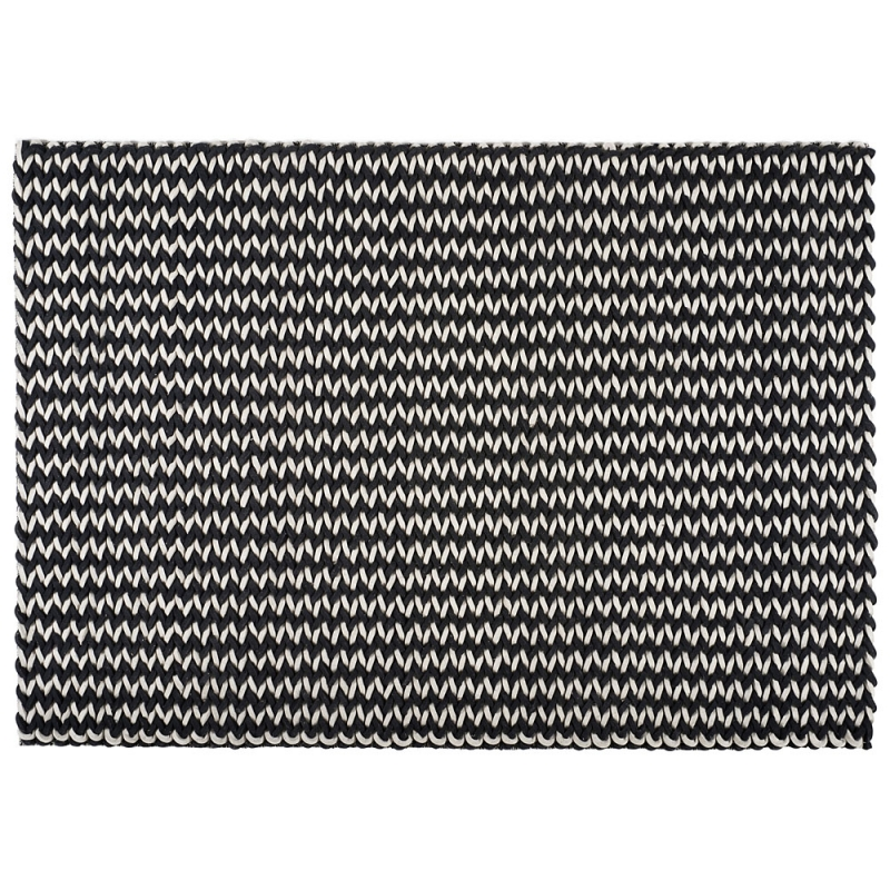 tapis en laine loane noir et blanc 160x230. Black Bedroom Furniture Sets. Home Design Ideas
