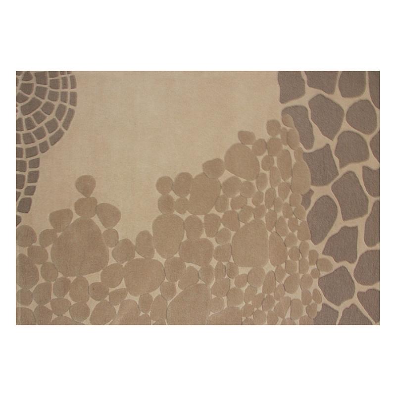 tapis en laine nara beige. Black Bedroom Furniture Sets. Home Design Ideas
