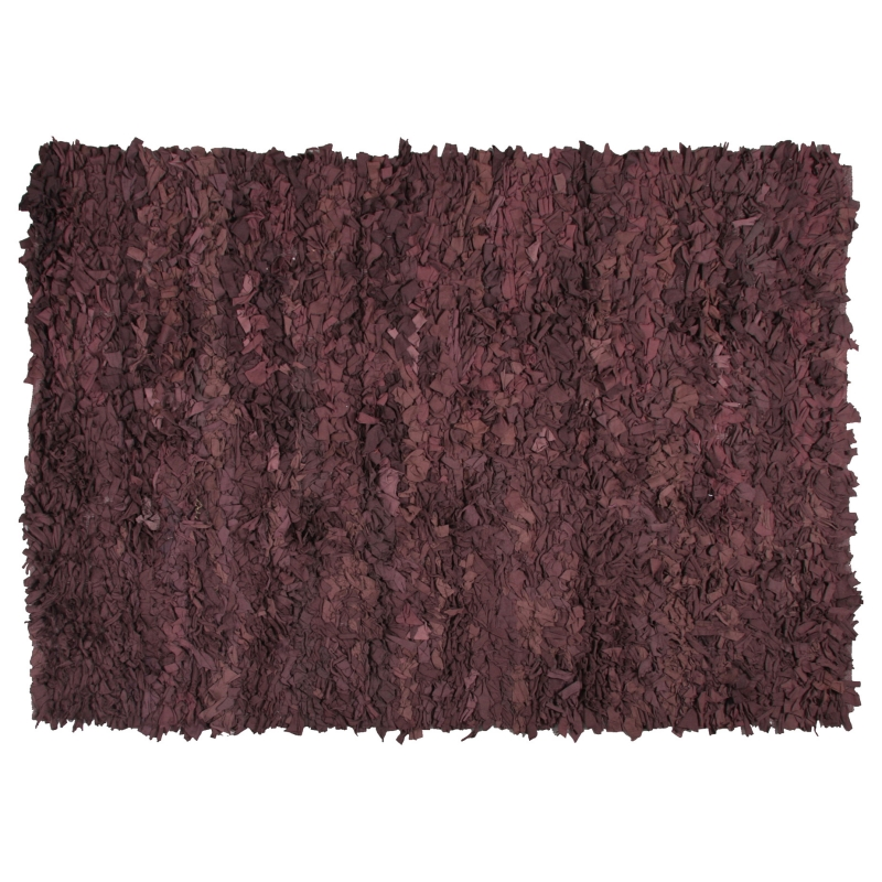 tapis shaggy moderne en coton marron coton 120x170. Black Bedroom Furniture Sets. Home Design Ideas