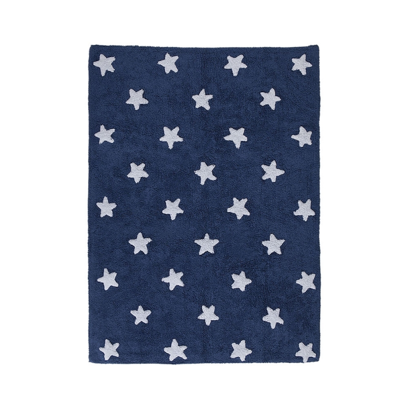 tapis enfant navy stars bleu lorena canals. Black Bedroom Furniture Sets. Home Design Ideas