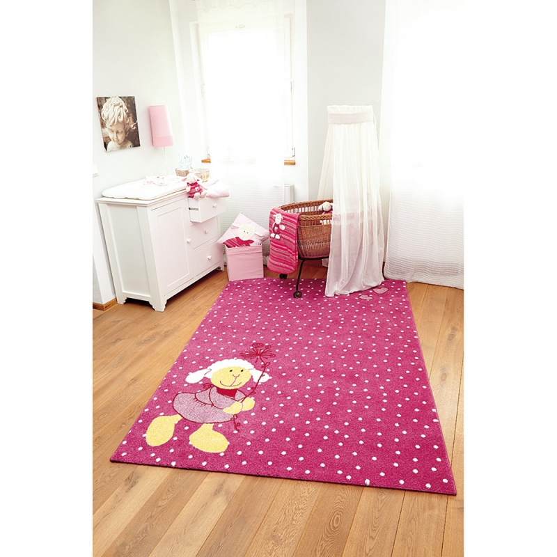 tapis enfant rose sigikid schnuggi 120x170. Black Bedroom Furniture Sets. Home Design Ideas