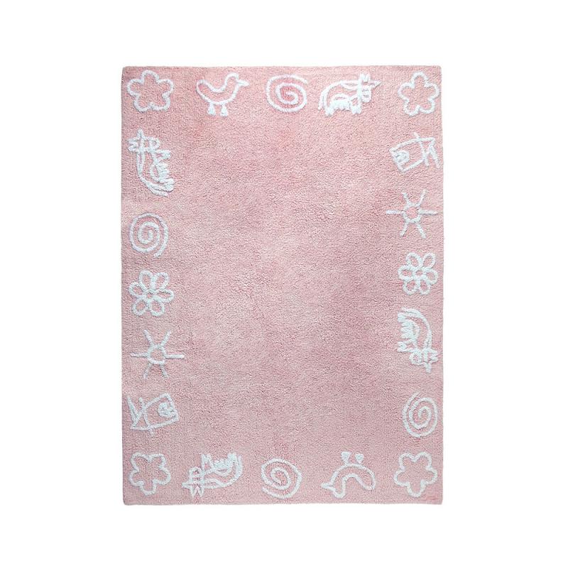 tapis enfant granja rose lorena canals 120x160. Black Bedroom Furniture Sets. Home Design Ideas