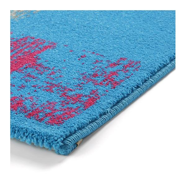 tapis cuadros esprit home bleu 160x225. Black Bedroom Furniture Sets. Home Design Ideas