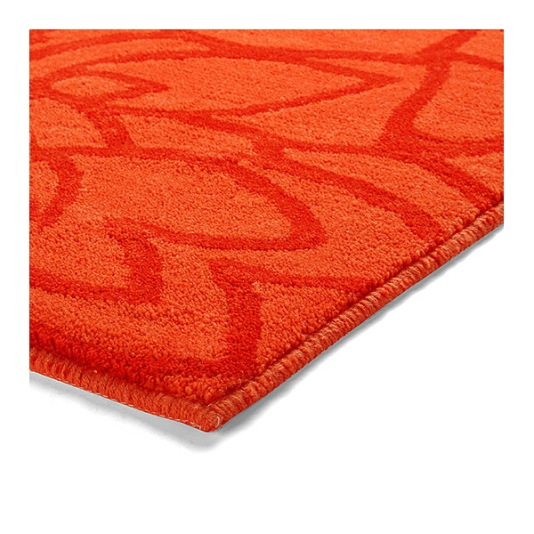 tapis de bain esprit home flower shower orange 60x100. Black Bedroom Furniture Sets. Home Design Ideas